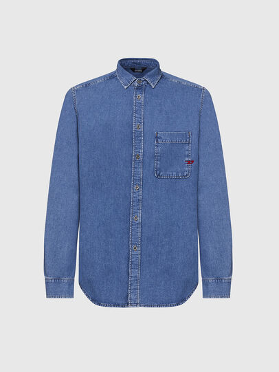 Diesel - D-BILLY, Azul Claro - Camisas de Denim - Image 1