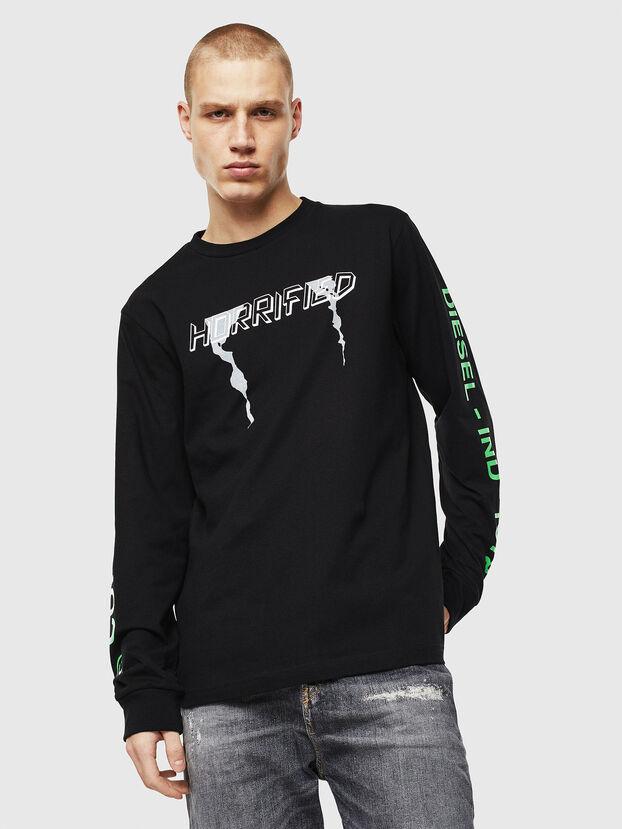 T-JUST-LS-VINT, Negro/Blanco - Camisetas