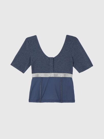 Diesel - UFTEE-TOPCUT-DN, Azul - Camisetas - Image 1