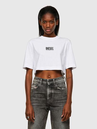 Diesel - T-RECROP-ECOSMALLOGO, Blanco - Camisetas - Image 1