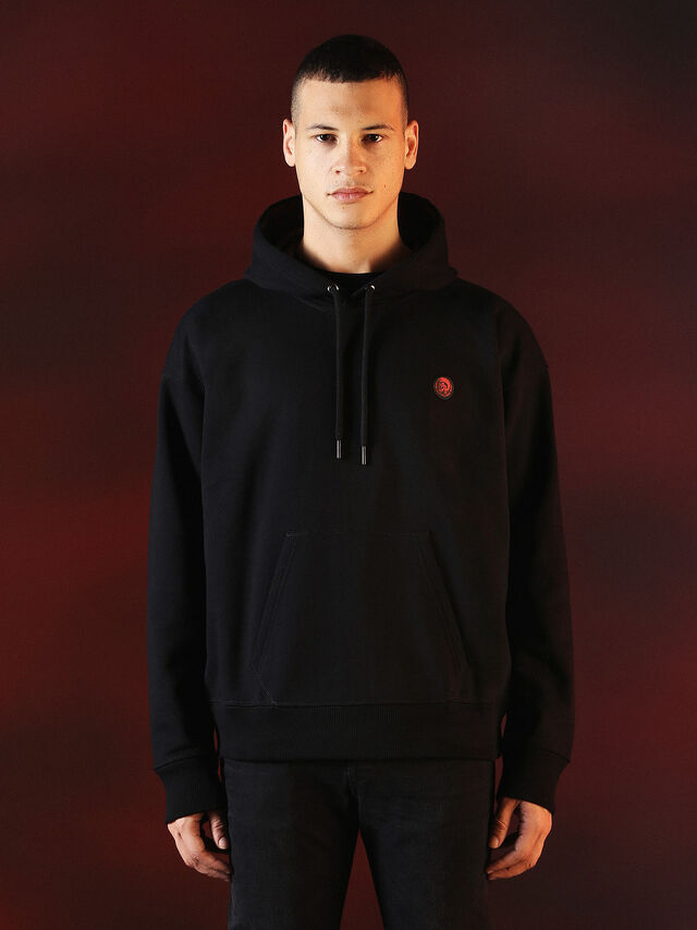 Diesel - DVL-SWEAT-SPECIAL COLLECTION, Negro - Sudaderas - Image 2