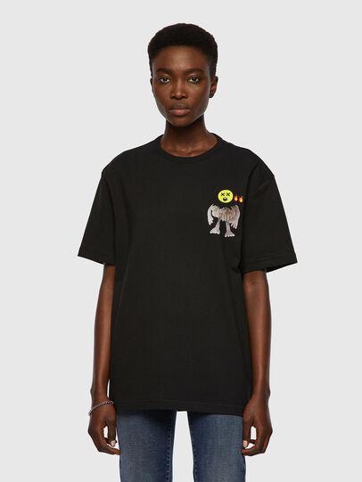 Diesel - T-BOYISH, Negro - Camisetas - Image 1