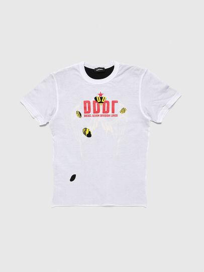 Diesel - TJUSTLAY, Blanco/Negro - Camisetas y Tops - Image 1