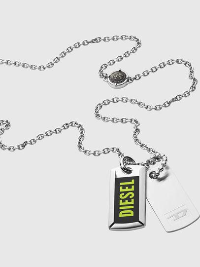 Diesel - DX1245, Plata - Collares - Image 2