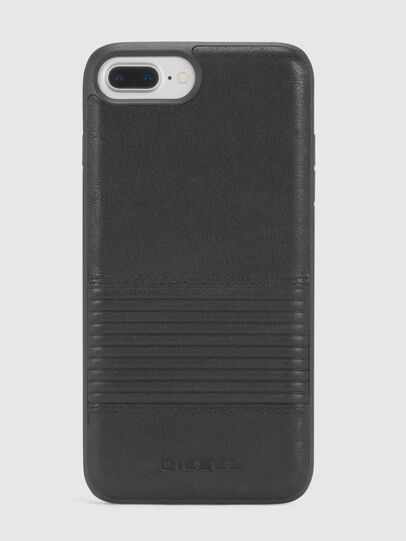 Diesel - BLACK LINED LEATHER IPHONE 8/7/6s/6 CASE, Negro - Fundas - Image 2