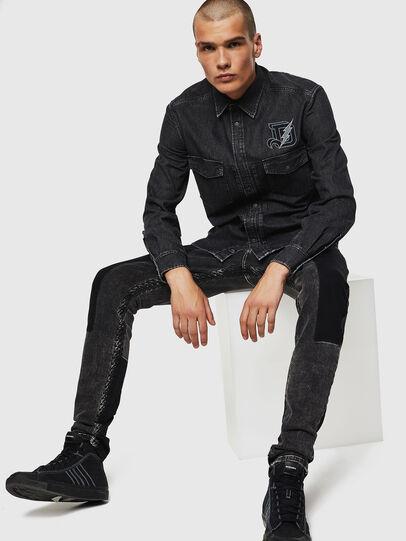 Diesel - D-BANDY-B, Negro - Camisas de Denim - Image 5