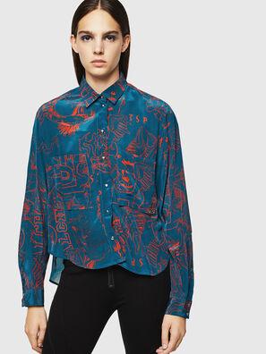 C-SUPER-F, Azul/Rojo - Camisas