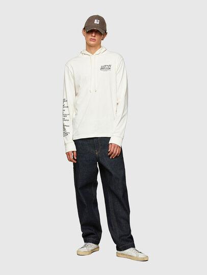 Diesel - T-JUST-LS-HOOD-SLITS, Blanco - Camisetas - Image 5