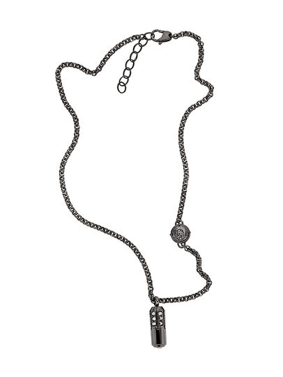 Diesel - NECKLACE DX1026, Gris oscuro - Collares - Image 1