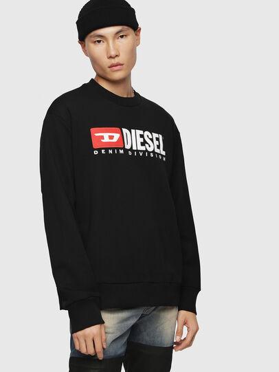 Diesel - S-CREW-DIVISION, Negro - Sudaderas - Image 1