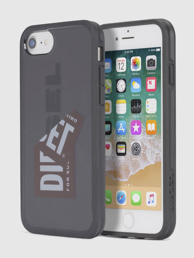 Diesel - STICKER IPHONE 8/7/6S/6 CASE, Negro - Fundas - Image 1