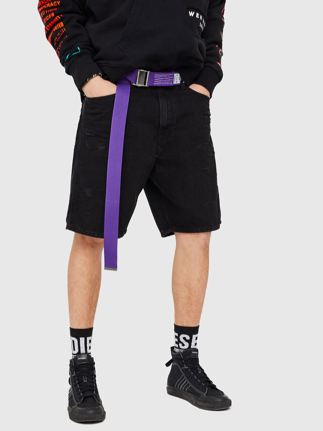 Diesel - D-WILLOH, Negro/Gris oscuro - Shorts - Image 4