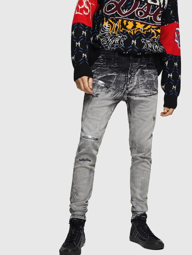 D-Reeft JoggJeans 084AH, Negro/Gris oscuro - Vaqueros