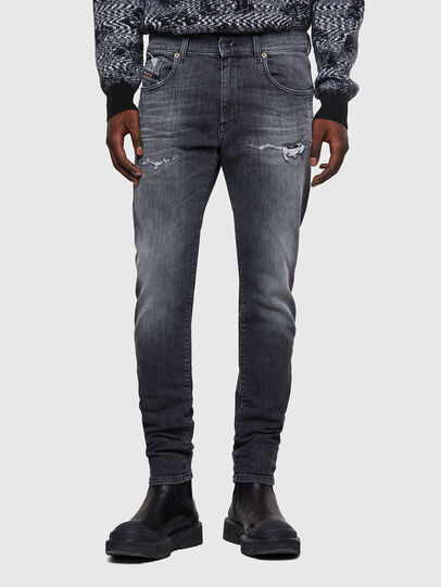 Diesel - D-Strukt JoggJeans® 009QT, Negro/Gris oscuro - Vaqueros - Image 1