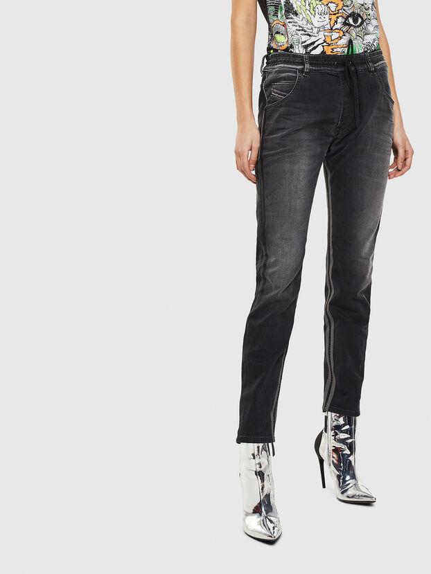 Krailey JoggJeans 0094Q, Negro/Gris oscuro - Vaqueros